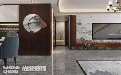 肥城·世纪豪庭160㎡+地下中式轻奢风格