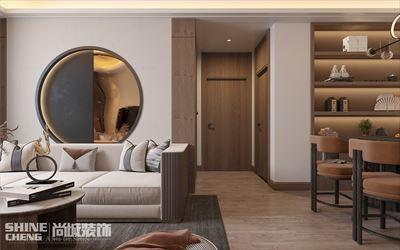 肥城贵和文苑133㎡三室两厅现代中式风格