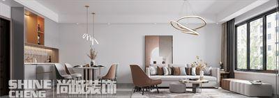 肥城特钢西区102㎡现代简约风格装修设计