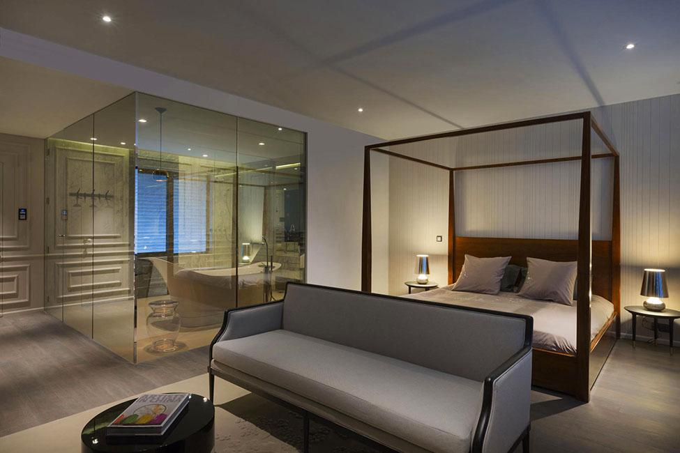 空间设计:上海蓝色顶层复式公寓(组图)图片