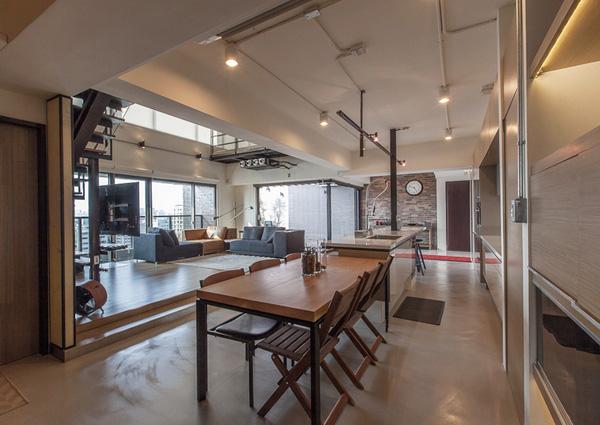 装修设计:高雄LAI组图复式机械欣赏(豪宅)-建筑双层设计毕业设计工作总结图片