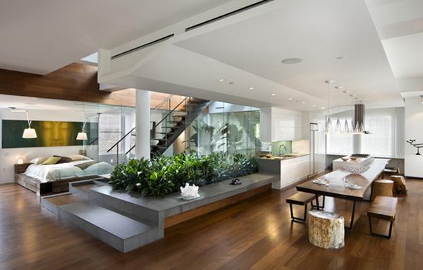 漂亮的楼顶花园:曼哈顿顶层Loft公寓设计(组图)