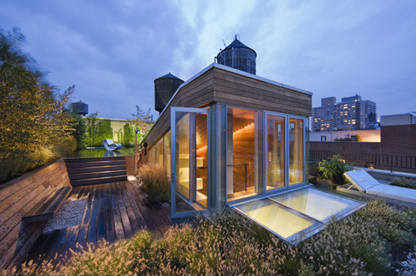 漂亮的楼顶花园 曼哈顿顶层Loft公寓设计