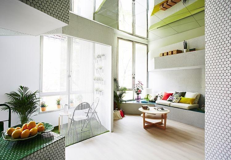 缤纷色彩 马德里Perimeter 36平米公寓设计(组图)