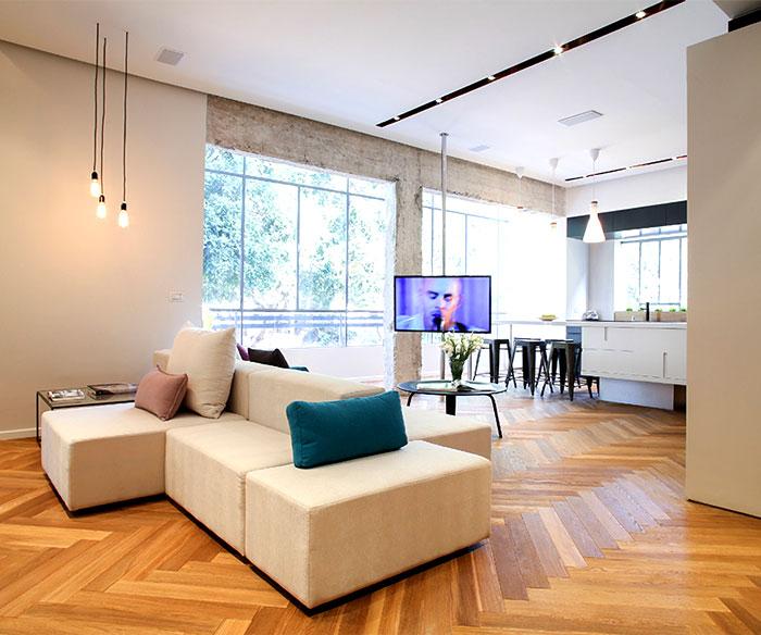 建筑欣赏:以色列现代风格90平米公寓设计(组图)