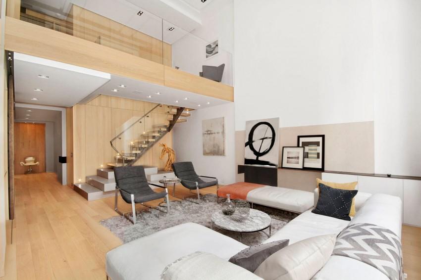 大气时尚装修 纽约时尚的复式住宅设计(组图)