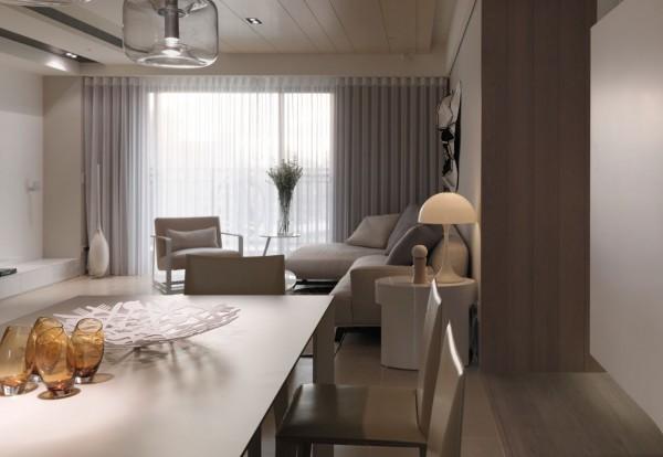 现代极简风格 100平公寓装修设计(组图)