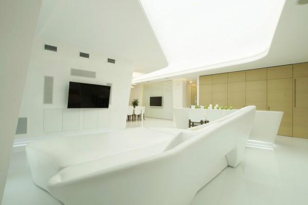 未来风格装修 时尚复式公寓设计(组图)
