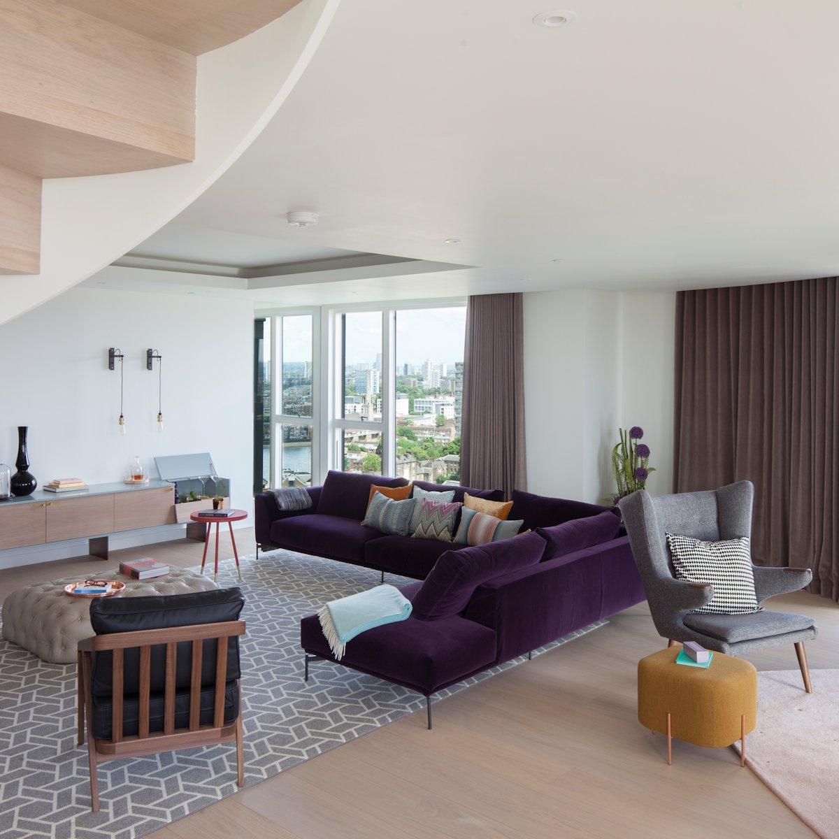 伦敦简洁风格 复式公寓设计(组图)