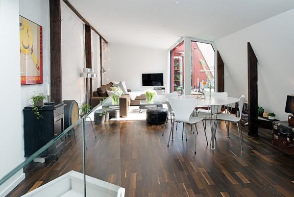 迷人装修 北欧风格复式公寓设计(组图)