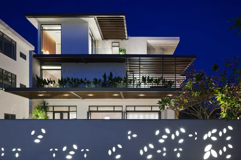 建筑欣赏:越南现代简约别墅设计(组图)