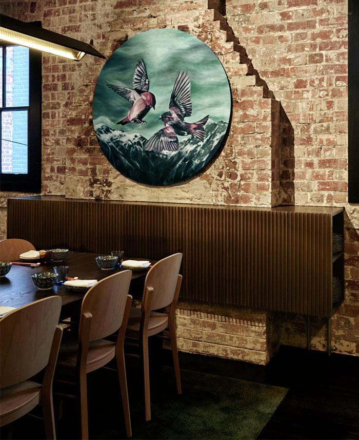 复古的砖墙和现代涂鸦:墨尔本LEE HO FOOK餐厅(组图)