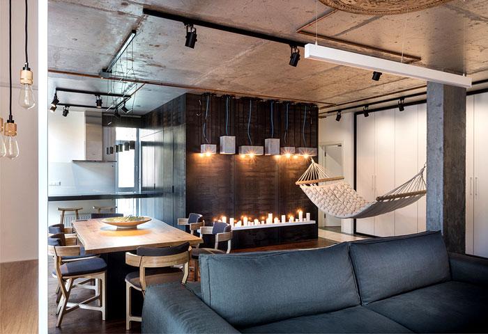 建筑欣赏:基辅酷酷的工业风格公寓装修设计(组图)