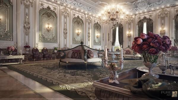 建筑欣赏:法国古典奢华宫廷风格住宅设计(组图)