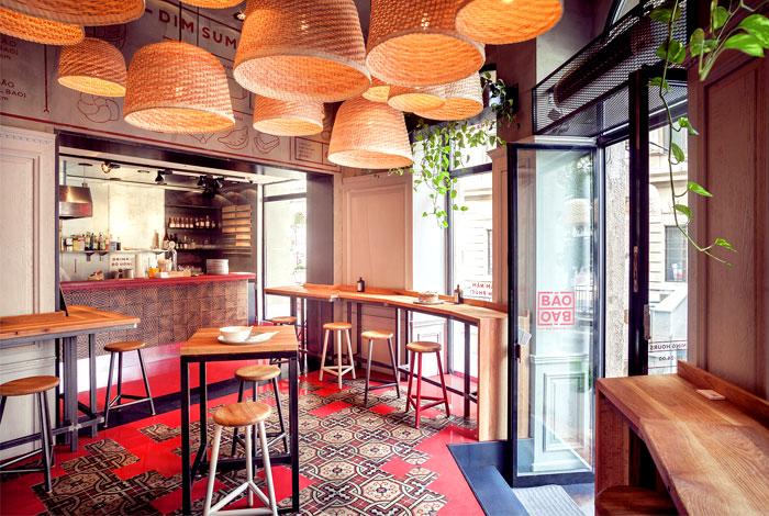 建筑欣赏:布达佩斯Baobao包子店室内空间设计(组图)