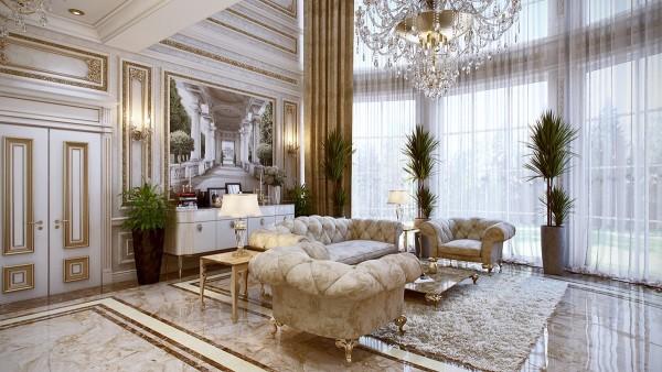 大气时尚 法国古典奢华宫廷风格住宅(组图)