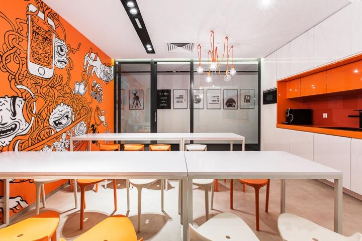 建筑欣赏:波兰FreshMail现代新潮的办公空间设计(组图)