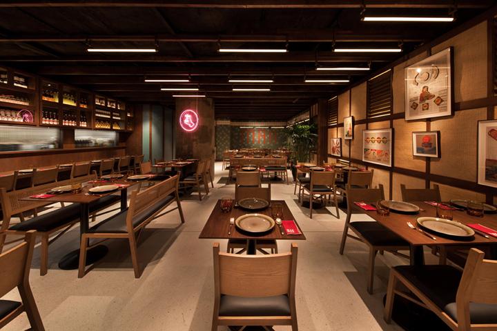 建筑欣赏:香港Mak Mak泰式餐厅设计(组图)