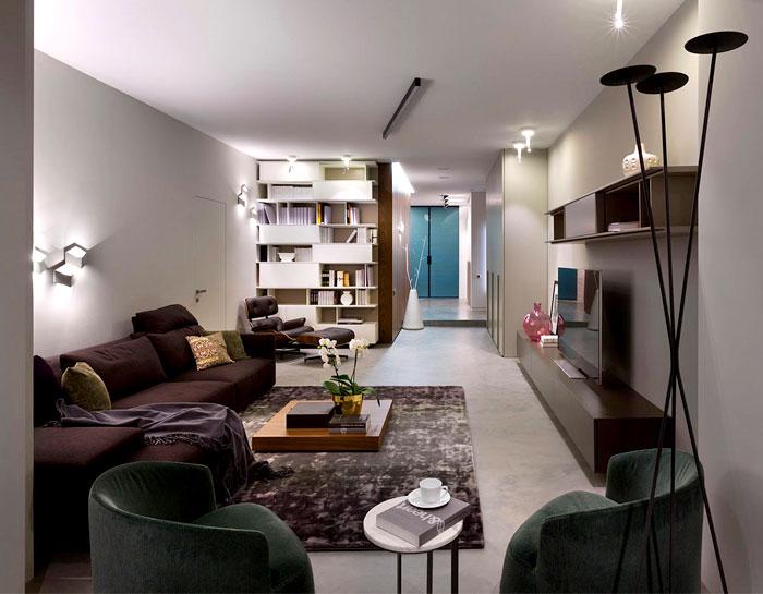 时髦的暗色调:乌克兰现代时尚公寓设计(组图)