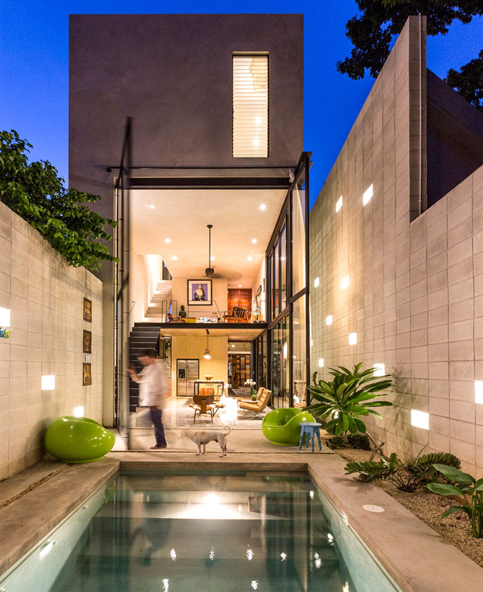 建筑欣赏:墨西哥Yucatan现代住宅空间设计(组图)