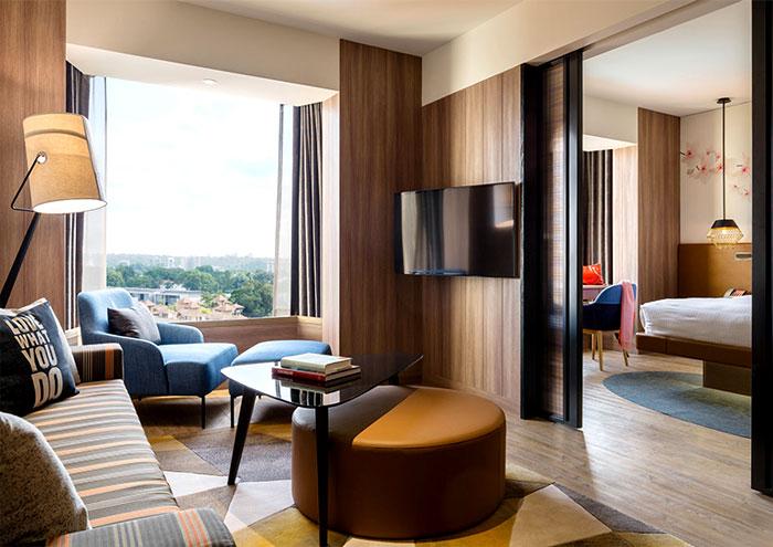 建筑欣赏:新加坡Jen Tanglin酒店空间设计(组图)