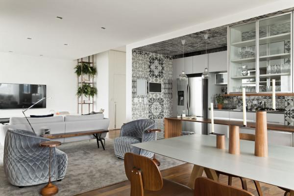 建筑欣赏:圣保罗简约而精致的360度公寓装修设计(组图)