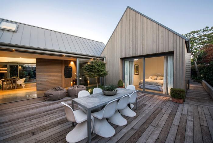 新西兰Christchurch围合式院落住宅设计(组图)