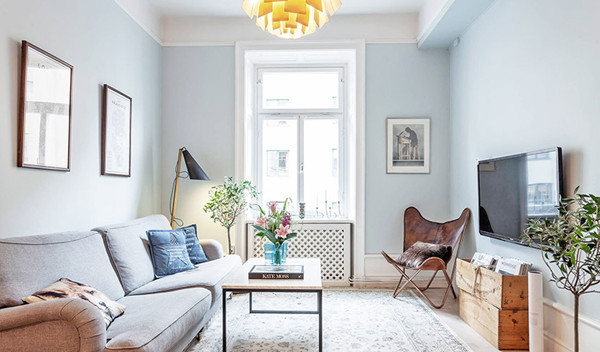 瑞典60㎡清新公寓设计(组图)