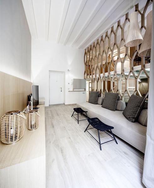 建筑设计:米兰精美简约三层公寓设计(组图)