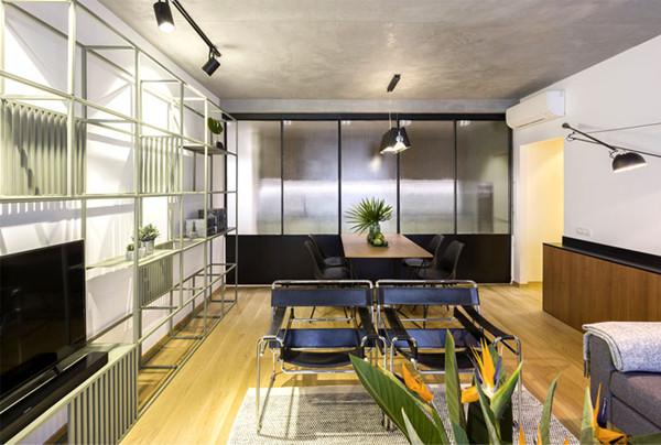 工业美学风格的现代气息公寓装修设计(组图)