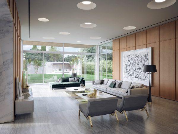 轻松舒适的元素:加州时尚现代豪宅设计(组图)