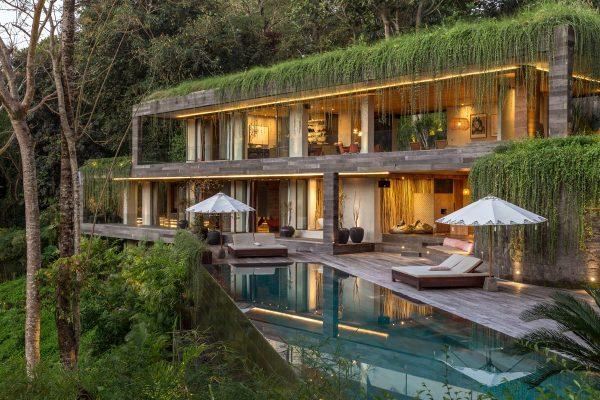 与自然拥抱:巴厘岛丛林豪华度假豪宅(组图)