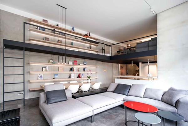优雅时尚风格的现代简约Loft住宅设计(组图)