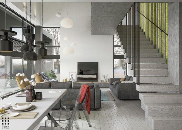 建筑欣赏:灰色系简约家居别墅设计(组图)